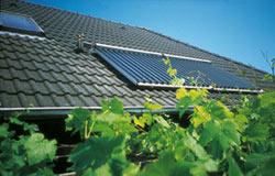 Solarwärmeanlage auf dem Hausdach